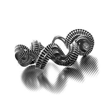 Abstracte Stripe Vortex van Jörg Hausmann
