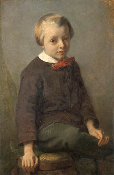 Porträt eines Jungen, August Allebé von Meesterlijcke Meesters