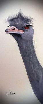 Autruche oiseau sur Iwona Sdunek alias ANOWI
