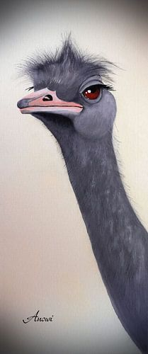 Vogel struisvogel van