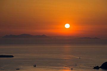 Sonnenuntergang in Griecheland, Santorini von Barbara Brolsma