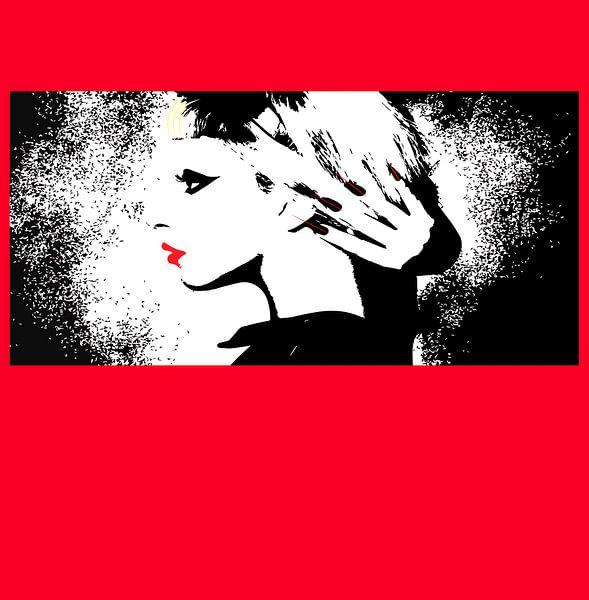 Lady Gaga Illustration berühmter Pop-Künstler von sarp demirel