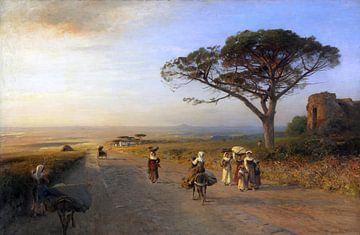 Via Appia, Italien, ALBERT FLAMM, ca. 1850