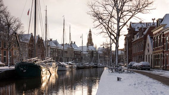 Winter in Groningen (Hoge der A) van Frenk Volt