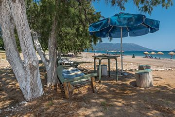 Rustplek op Votsalakia Beach op Samos van Rinus Lasschuyt Fotografie