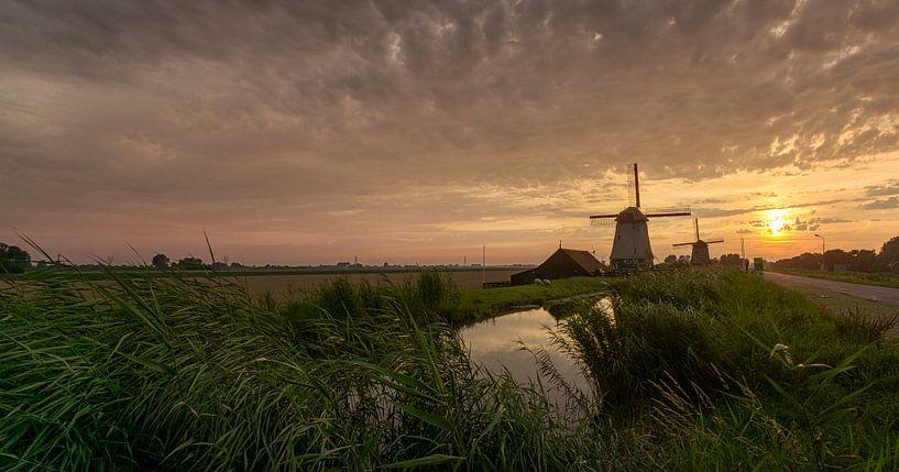 Windmolens in de  Beemster polder van Toon van den Einde