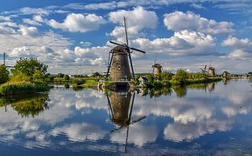 Kinderdijk reflectie van Erik Noort
