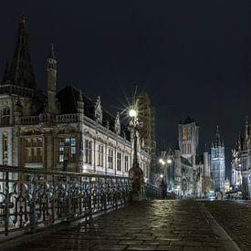 St. Michael-Brücke in Gent von MS Fotografie | Marc van der Stelt