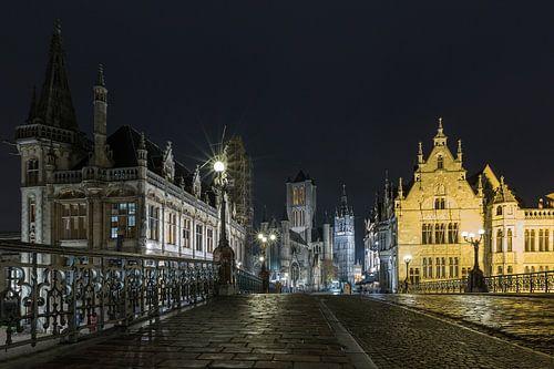 De Sint Michielsbrug in Gent van MS Fotografie