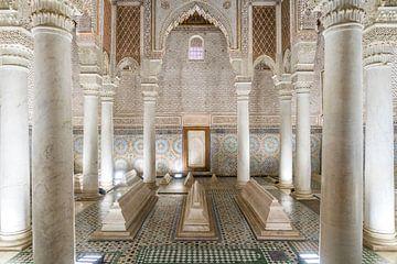 Saadian Tombs Mausoleum, Marrakech, Marokko van Peter Schickert