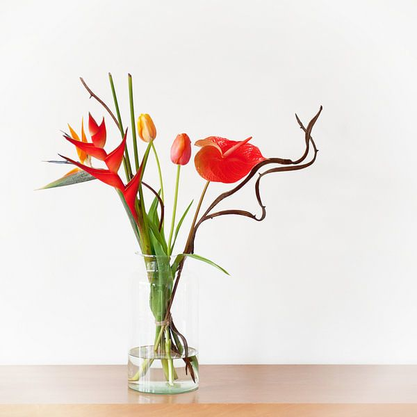 Oranje Bloemen van Wendy Bos
