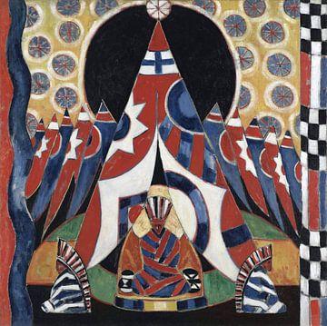 Amerikaanse indiaanse symbolen, 1914 van Atelier Liesjes