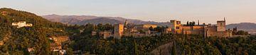 Alhambra - Granada (panorama) van Jack Koning