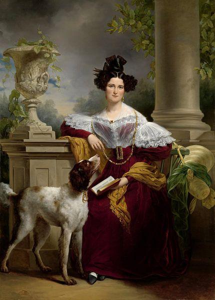 Portret van Alida Christina Assink, Jan Adam Kruseman sur Meesterlijcke Meesters