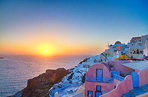 Oia Sunset III, Santorini von Erwin Blekkenhorst