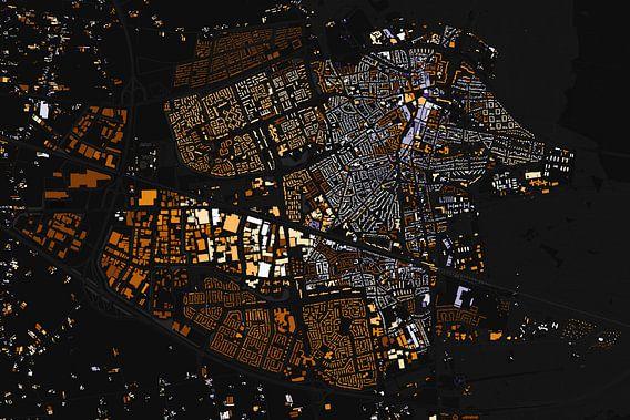 Kaart van Ede abstract van Stef Verdonk