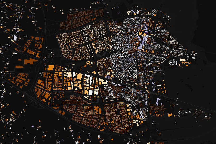 Kaart van Ede abstract