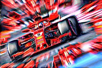 Sebastian Vettel featuring Loria van Jean-Louis Glineur alias DeVerviers