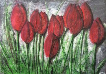 """Rote Tulpen"" van Susanne A. Pasquay"