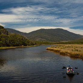 Kayakken in Wilsons Promontory  van Tessa Louwerens
