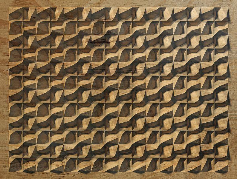 Reliëf D3 Houtsnijwerk van Frans Blok