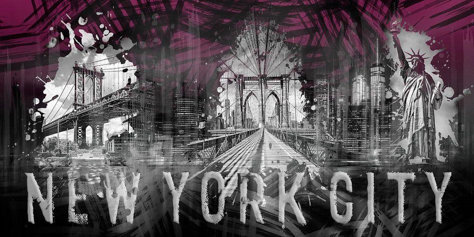 NEW YORK CITY Collage   Panorama   roze