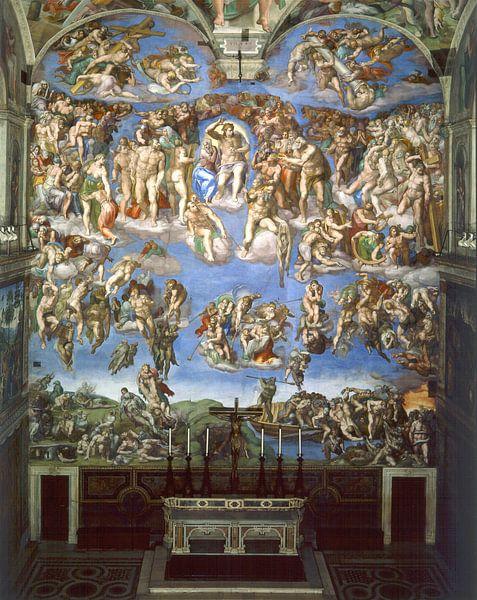 Michelangelo. Sixtijnse Kapel, Laatste oordeel van 1000 Schilderijen