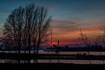 Zonsondergang bij het Spui van René Groenendijk
