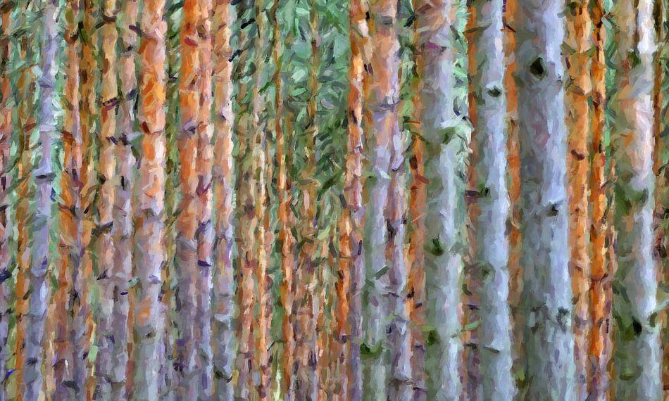 bomen abstract van Marion Tenbergen