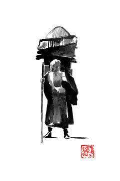posierender Mönch von philippe imbert