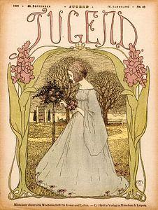 Jugendstil Omslag tijdschrift Jugend 30 September 1899