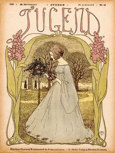 Jugendstil Omslag tijdschrift Jugend 30 September 1899 van Martin Stevens