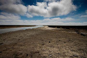 Landschap, droge klei, Ameland van Nynke Altenburg