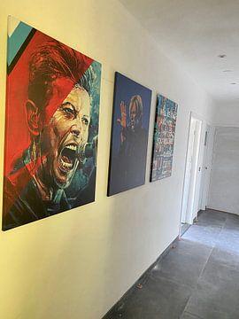 Kundenfoto: David Bowie malerei von Jos Hoppenbrouwers