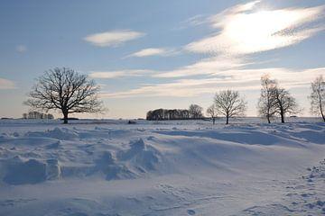 Schneeverwehungen bei Neukamp, Putbus, Insel Rügen von GH Foto & Artdesign