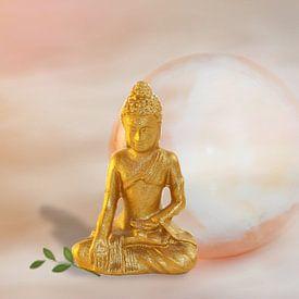 Golden Buddha van Rosi Lorz