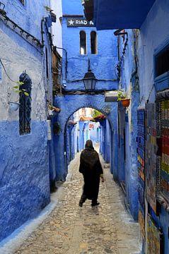 Medina in shades of blue