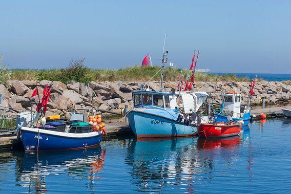 Alte Fischkutter im Hafen, Kühlungsborn, Mecklenburg-Vorpommern, Deutschland, Europa