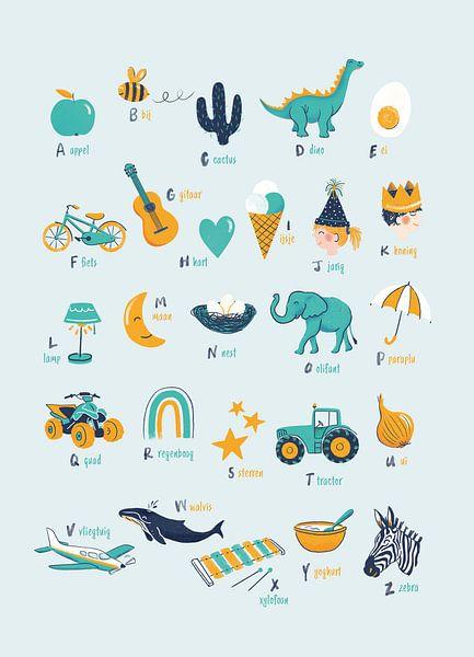 Alphabet-Poster Kinderkrippe postfrisch von Karin van der Vegt