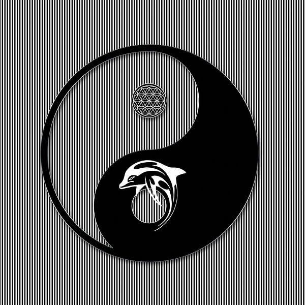 Yin Yang Symbol Van Marion Tenbergen Op Canvas Behang En Meer