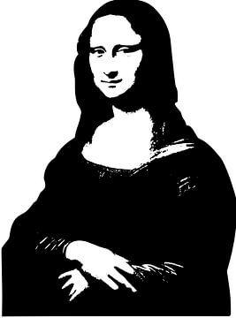 Mona Lisa in schwarz-weiß von Atelier Liesjes