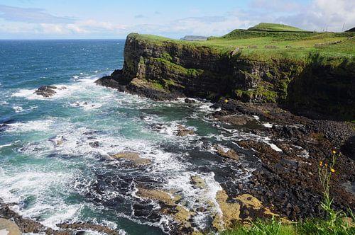 Ierse kust bij Malinmore. van