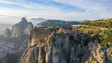 Panorama St. Stephen klooster, Meteora, Griekenland van Liset Verberne