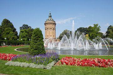 Wasserturm, Friedrichsplatz, Mannheim, Baden-Württemberg, Deutschland, Europa