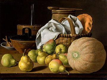 Stilleben mit Melone und Birnen, Luis Eugenio Meléndez