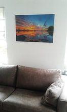 Kundenfoto: Himmel auf Feuer von Sander Peters Fotografie, auf alu-dibond
