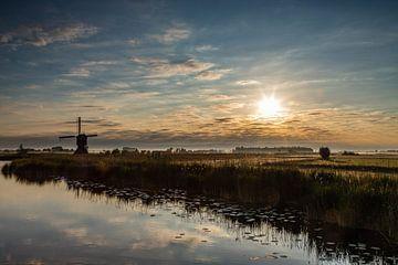 Mühle in der Morgensonne von René Groenendijk