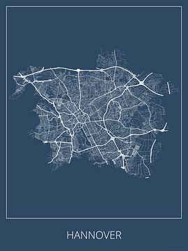 Hannover, blauw van Geodat