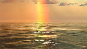 Regenboog over de zee van Frank Grässel
