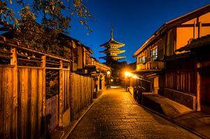 Typisch Japan met tempel van